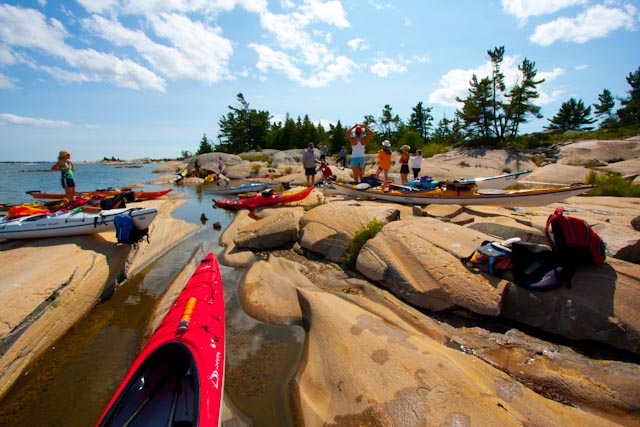 Kayak Georgian Bay, Ontario, Canada. Kayak lessons, kayak trips, kayak courses. Kayak, canoe, SUP sales, rentals, free test paddling in Parry Sound, Ontario
