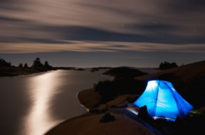 Camping out on Georgian Bay.