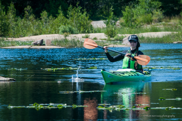 You paddling a kayak at White Squall Paddling Centre